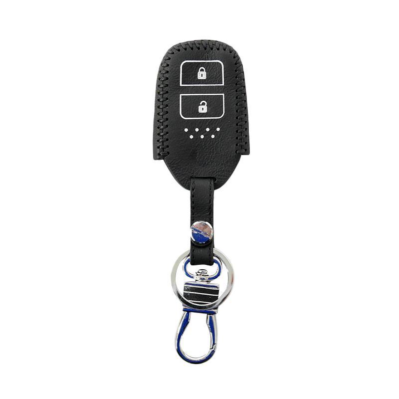 SIV 2 Tombol Premium Leather Sarung Kunci Mobil for Honda HR-V dan JAZZ - Putih CVR-PRM5051