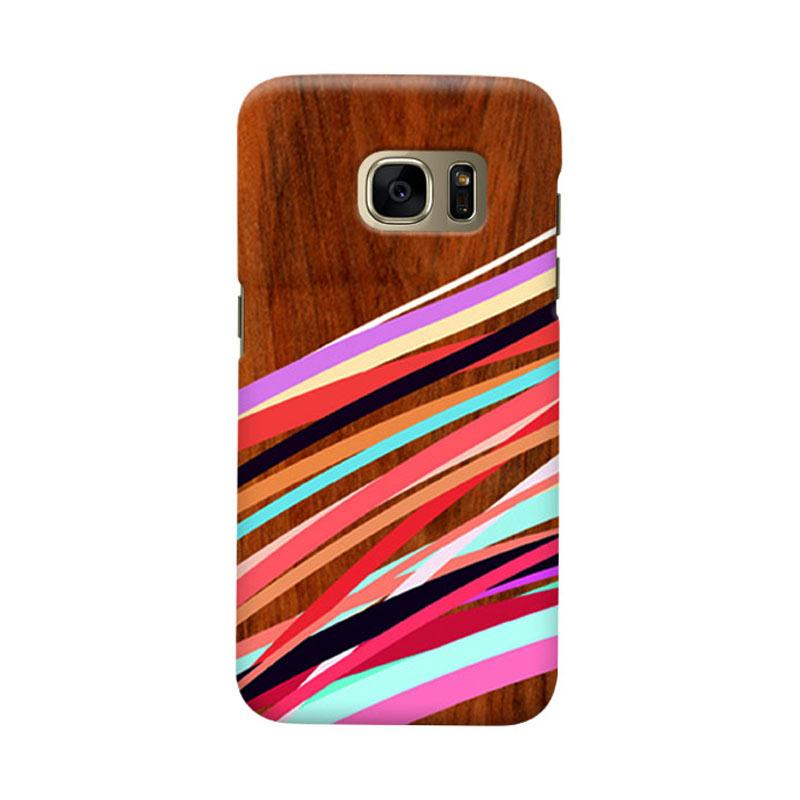 Indocustomcase Wooden Geometric S Cover Casing for Samsung Galaxy S6