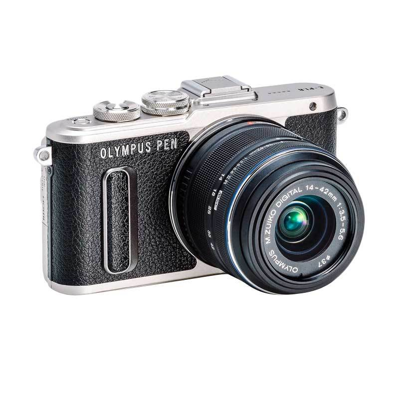 Olympus PEN E-PL8 Kit 14-42mm EZ Micro Four Thirds Kamera Mirrorless - Hitam