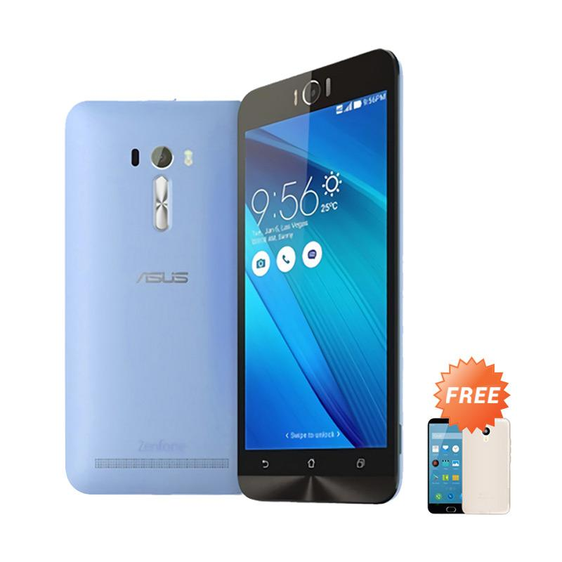 Best Seller Aircase Ultrathin Casing for Asus Zenfone Laser 5 Inch - Blue Clear + Free Ultrathin