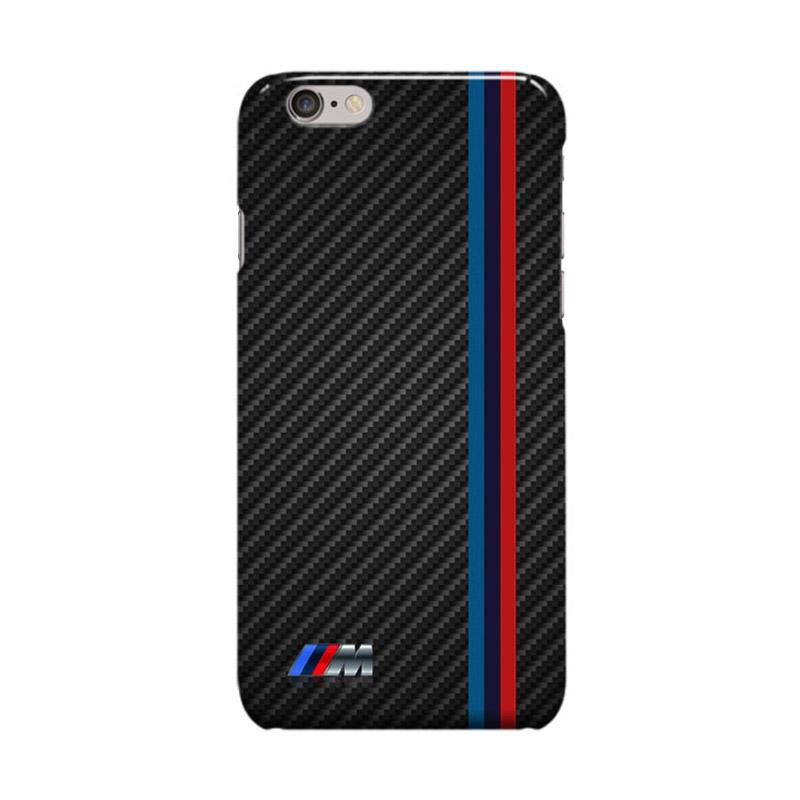 Indocustomcase BMW Striped Logo Casing for Apple iPhone 6 Plus or 6S Plus