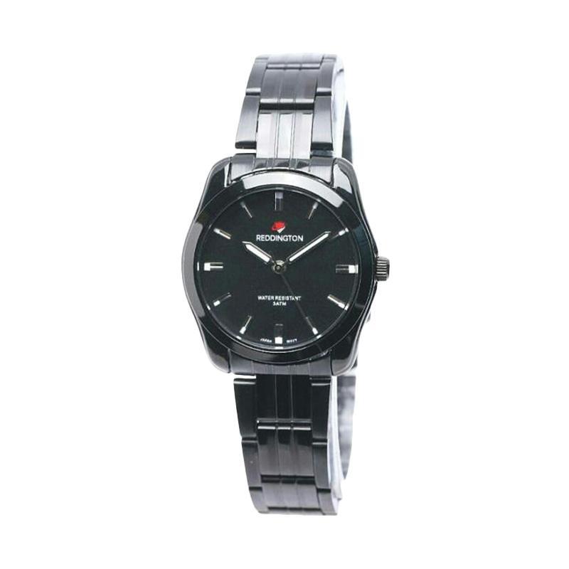 Reddington D32H130RD8010LHTM Analog Stainless Steel Chain Jam Tangan Wanita - Silver Black