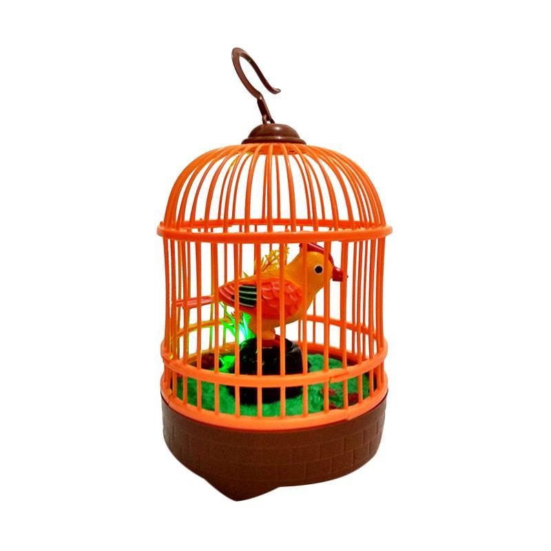 harga Toylogy Singing Heartful Bird Robot Burung Bernyanyi Dalam Sangkar Mainan Anak Blibli.com