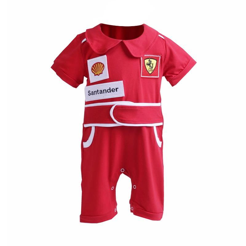 Chloe babyshop Jumper Boy Infant Ferrari Santander F999B Jumpsuit - Merah