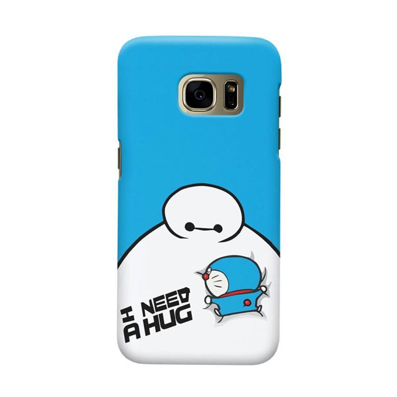 Indocustomcase Doraemon Baymax Cover Casing for Samsung Galaxy S7 Edge