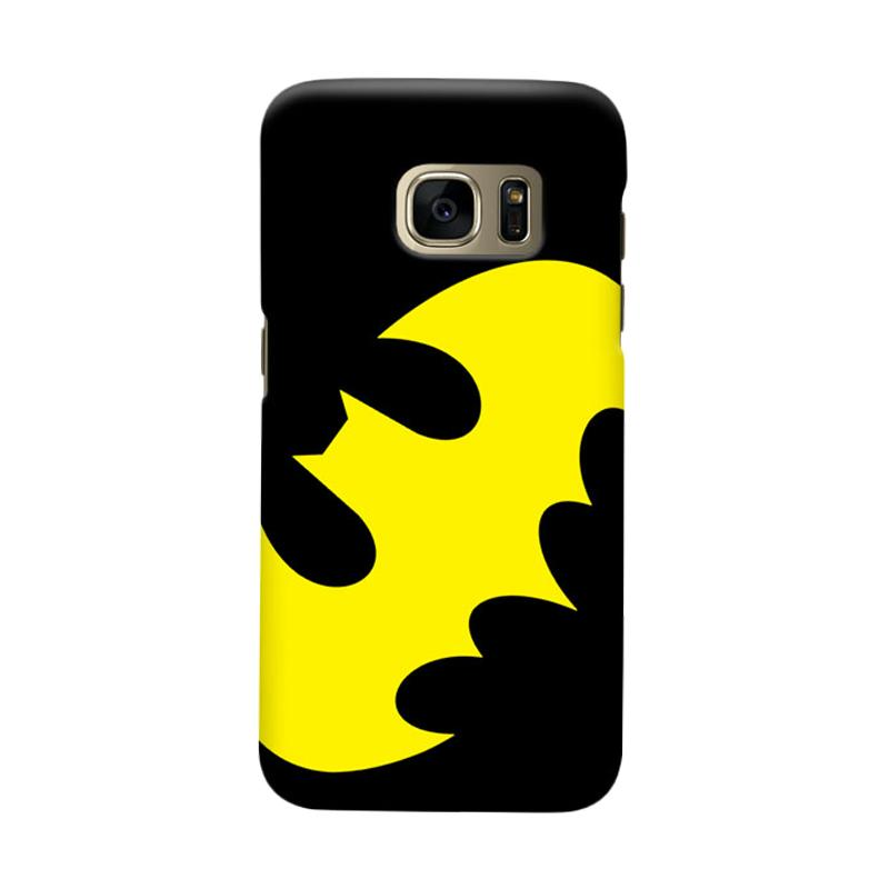 Indocustomcase Batman Logo Yellow Cover Casing for Samsung Galaxy S6