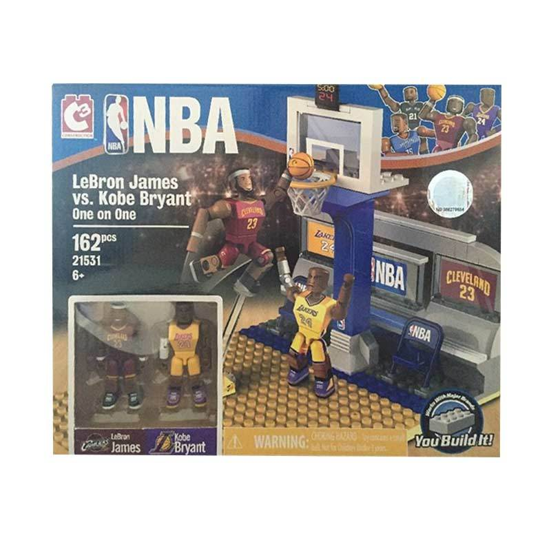 C3 NBA Lebron James Vs Kobe Bryant Building Set Mainan Blocks dan Stacking Toys