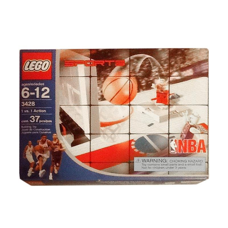 LEGO Sports 3428 NBA One vs One Action Rare Sealed 2003 Mainan Blok & Puzzle