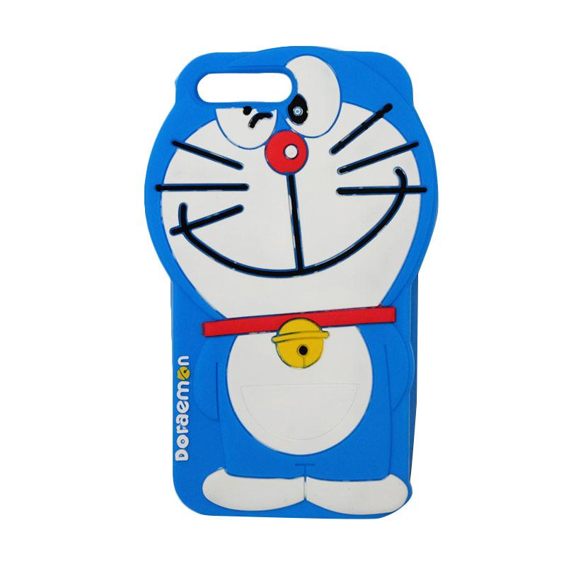 VR Karakter 3D Doraemon Edition Silicone Softcase Casing for Apple iPhone 7 Plus 5.5 Inch - Blue