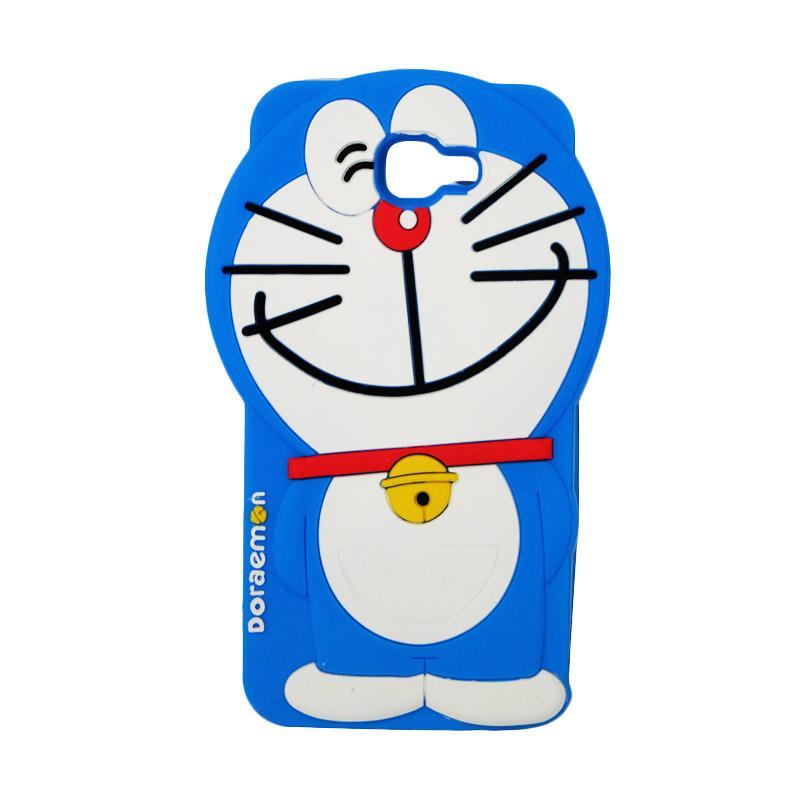 VR Karakter 3D Doraemon Edition Silicone Softcase Casing for Samsung Galaxy J5 Prime - Blue