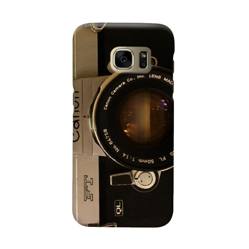 Indocustomcase Camera Canon FT QL Casing for Samsung Galaxy S7 Edge