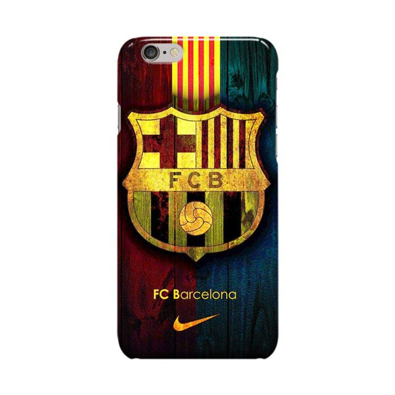Indocustomcase FC Barcelona Logo FCB04 Casing for Apple iPhone 6 Plus or 6S Plus