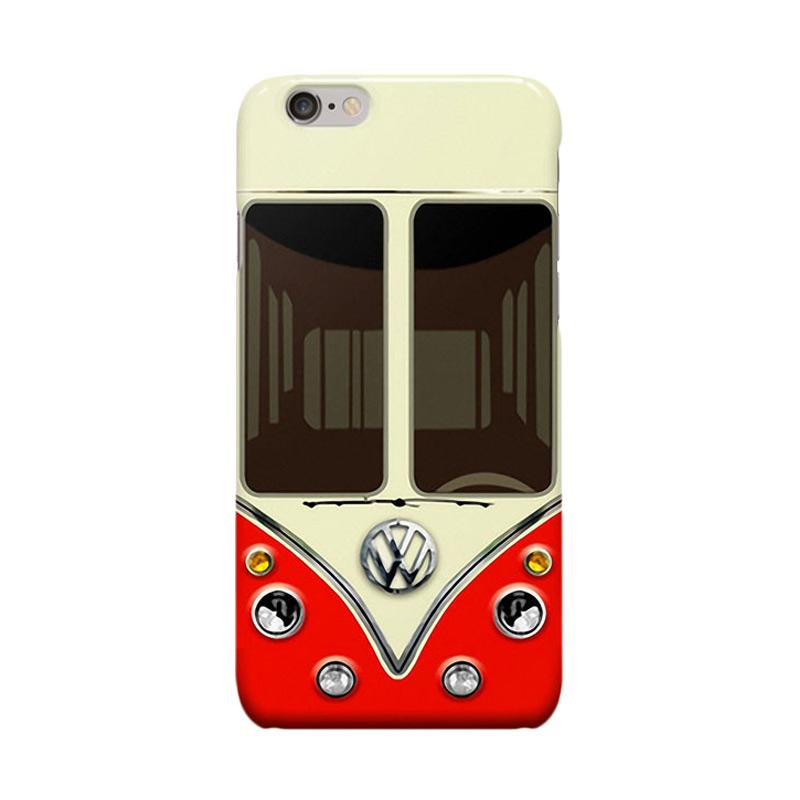 Indocustomcase Red Adventure VW Casing for Apple iPhone 6 Plus or 6S Plus