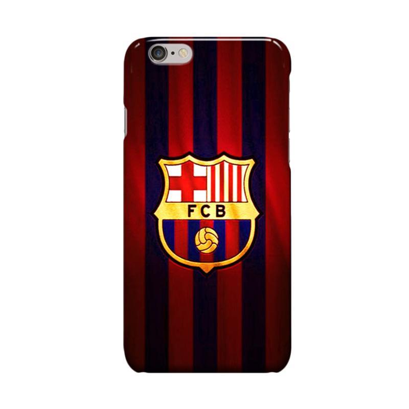 Indocustomcase FC Barcelona Logo FCB05 Casing for Apple iPhone 6 Plus or 6S Plus