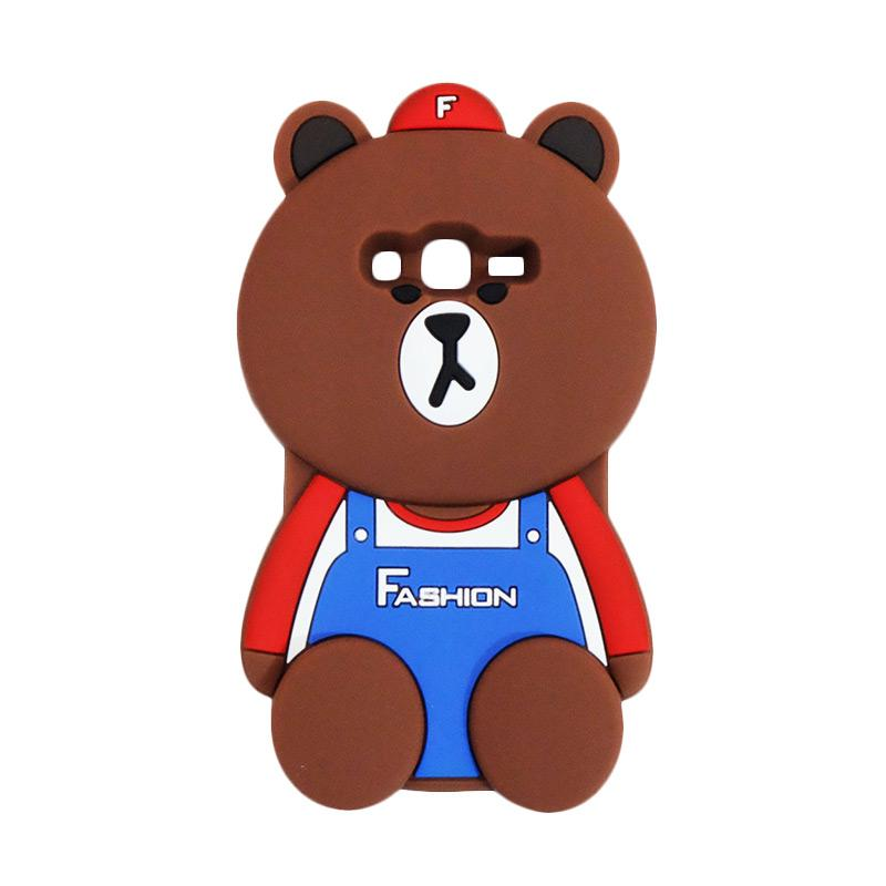 VR 3D Bear Fashion Edition Silicon Softcase Casing for Samsung Galaxy Grand Prime G530 - Brown