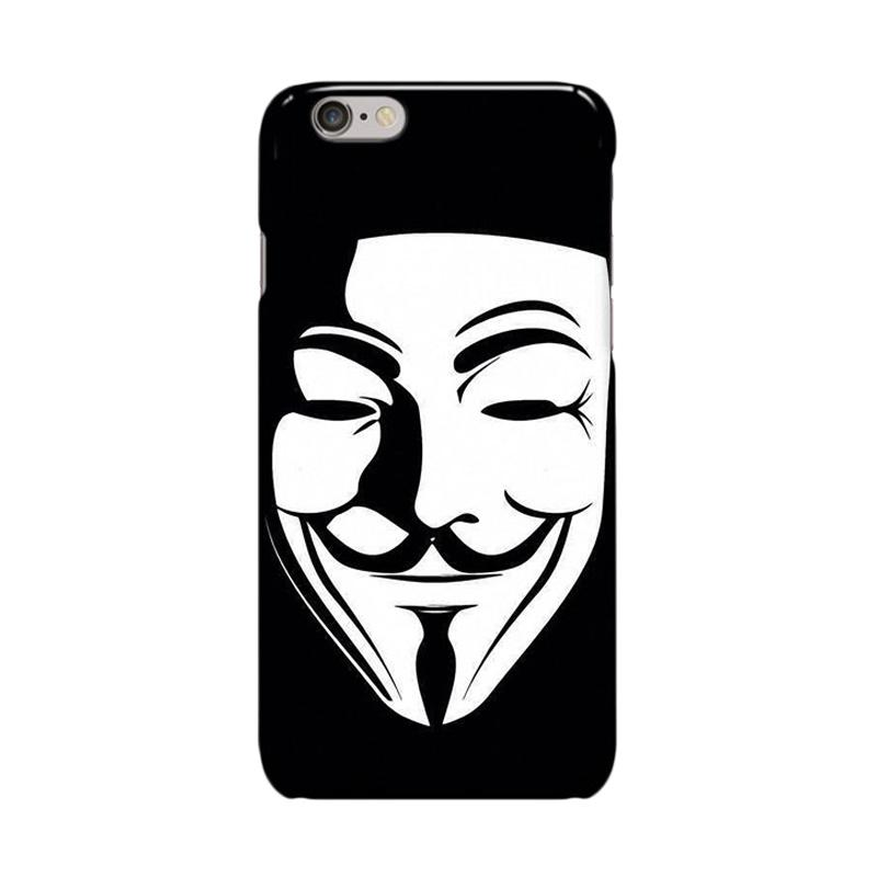 Indocustomcase Anonymous Mask Cover Casing for iPhone 6 Plus or 6S Plus
