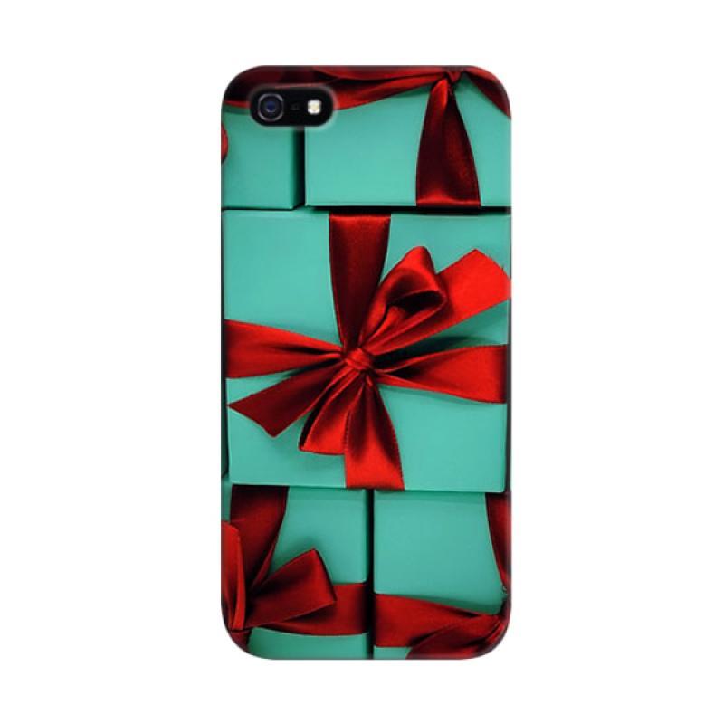 Indocustomcase Blue Box Gifts 2 Custom Hardcase Casing for Apple iPhone 5/5S/SE