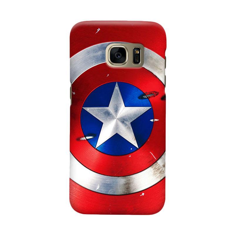 Indocustomcase Captain America Shield CAS01 Cover Casing for Samsung Galaxy S7