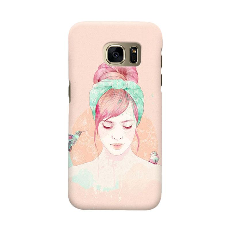 Indocustomcase HairStylis Girls Cover Casing for Samsung Galaxy S7