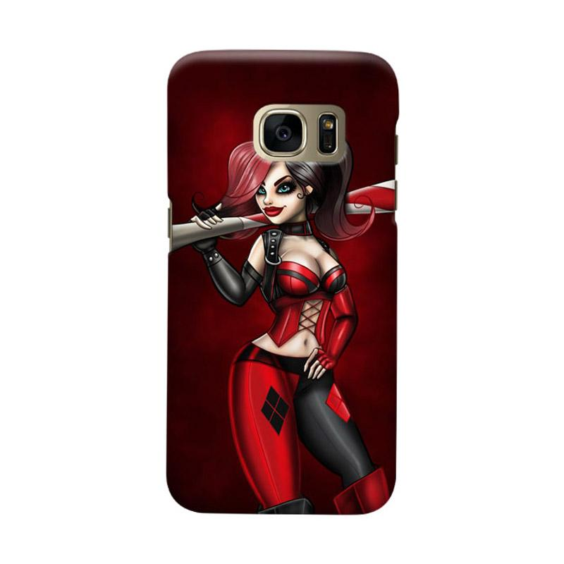 Indocustomcase Batman Harley Quinn Cover Casing for Samsung Galaxy S6 Edge