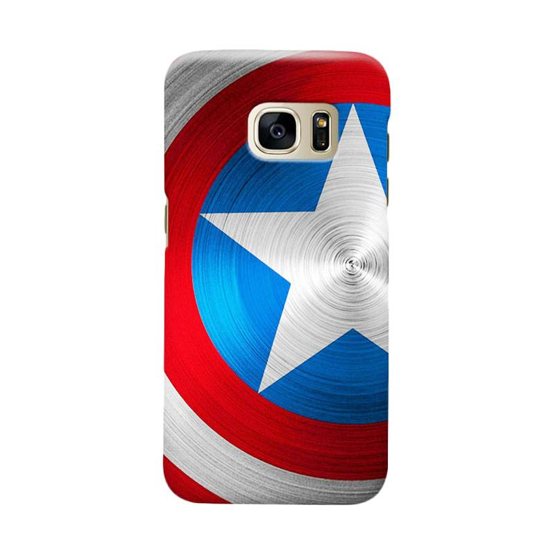 Indocustomcase Captain America Shield CAS02 Cover Casing for Samsung Galaxy S7