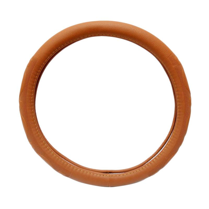 SIV 5335 Import Steering Wheel Cover - Brown