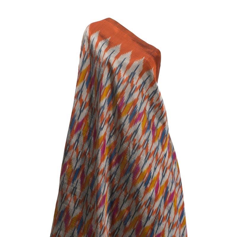 Tenun Sengkang IND-1212 Kain Tenun Ikat Meteran Khas Bugis Makassar - Multicolor