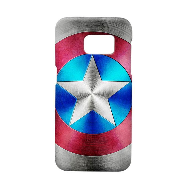 Indocustomcase Captain America Shield CAS03 Cover Casing for Samsung Galaxy S7