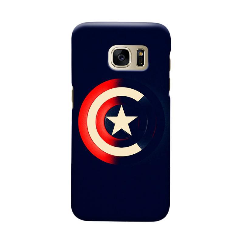 Indocustomcase Captain America Shield CAS04 Cover Casing for Samsung Galaxy S7