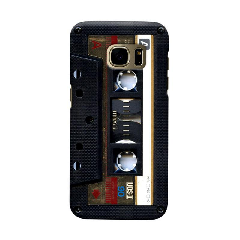 Indocustomcase Maxell Cassette Cover Hardcase Casing for Samsung Galaxy S7 Edge