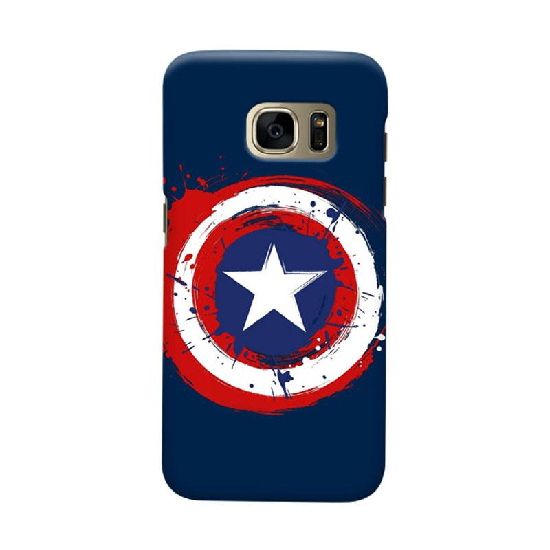 Indocustomcase Captain America Shield CAS05 Cover Casing for Samsung Galaxy S7