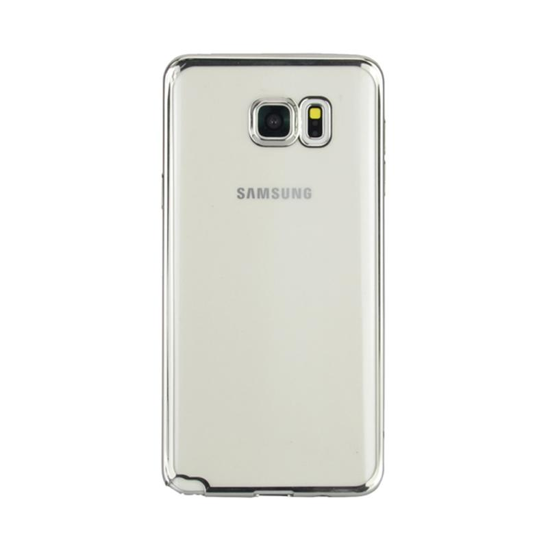 Tempered Source Case Jelly Transparan Shiny Chrome List Softcase Casing for Samsung Galaxy .