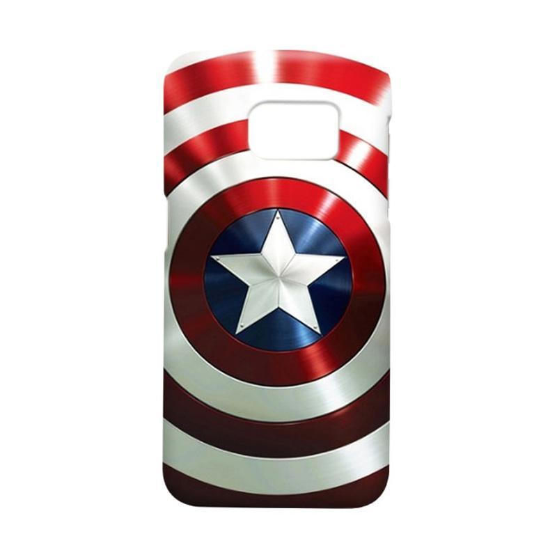 Indocustomcase Captain America Shield CAS06 Cover Casing for Samsung Galaxy S7