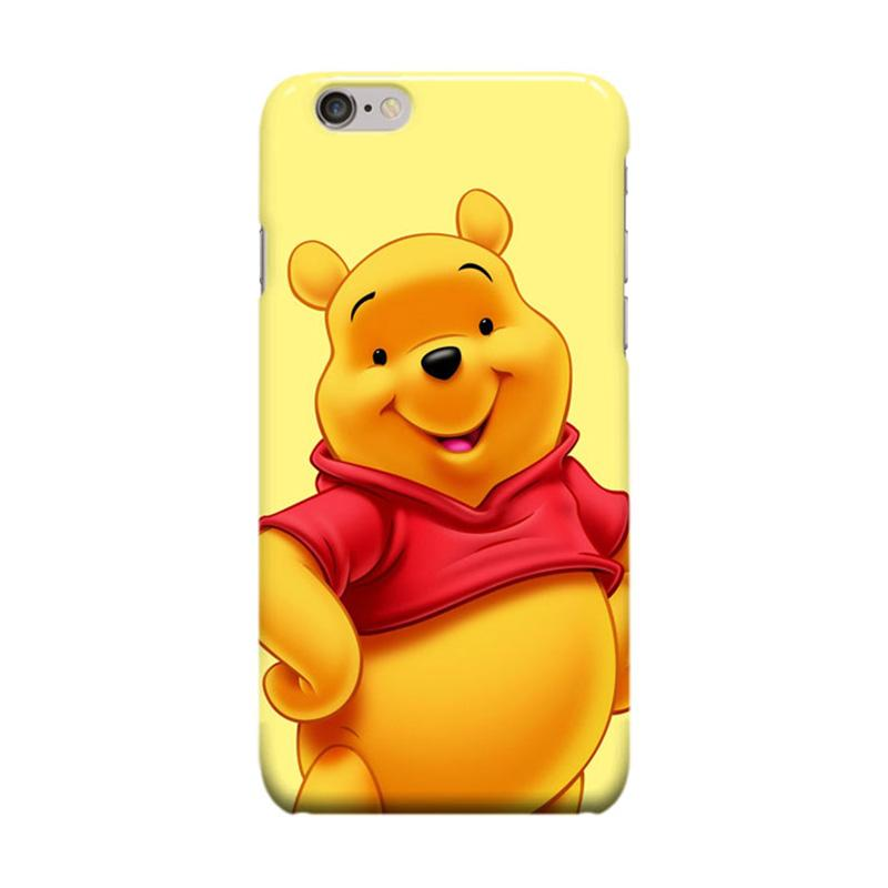 Indocustomcase Cartoon The Pooh Cover Casing for Apple iPhone 6 Plus or iPhone 6S Plus