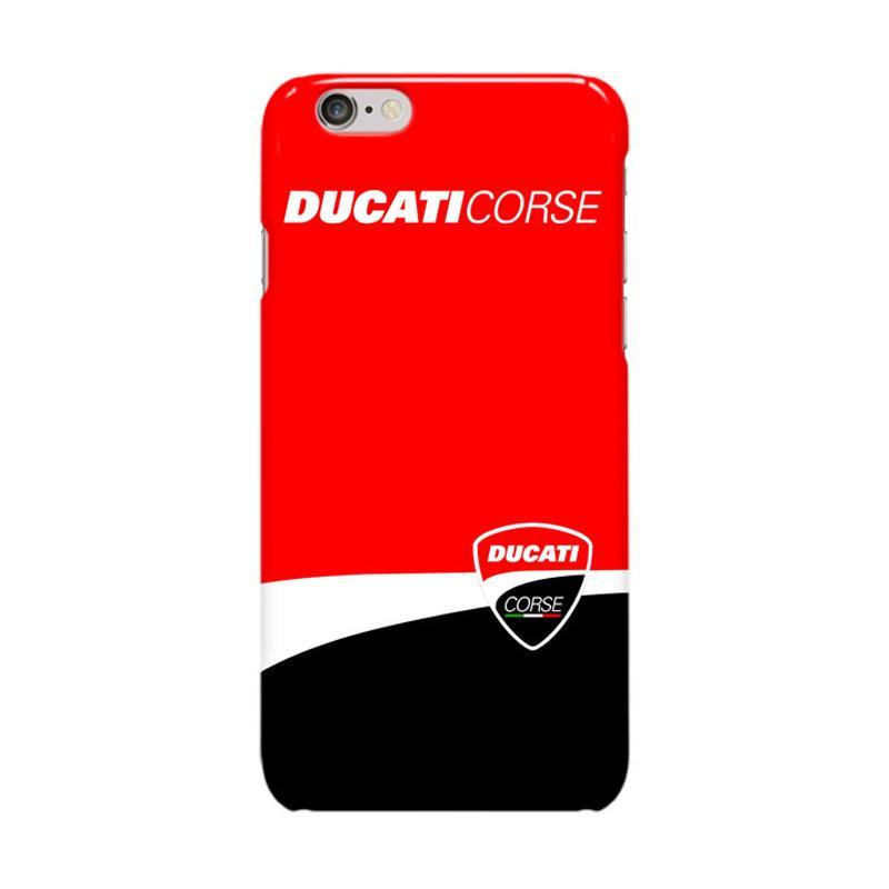 Indocustomcase Ducati Corse Logo Cover Casing for iPhone 6 Plus or 6S Plus