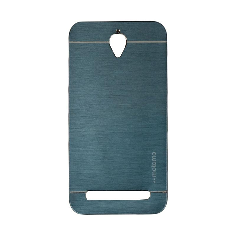 Motomo Metal Backcase Hardcase Casing for Asus Zenfone Go ZC451TG or ZC450TG 4.5 Inch - Dark Blue