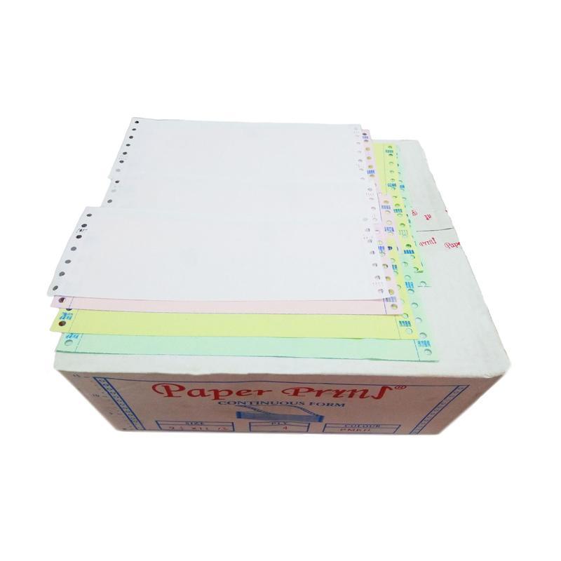 Paperpryns Continuous Form - Putih Merah Kuning Hijau [9.5 x 11-3 Inch/ 4 Ply Bagi 3/ NCR]