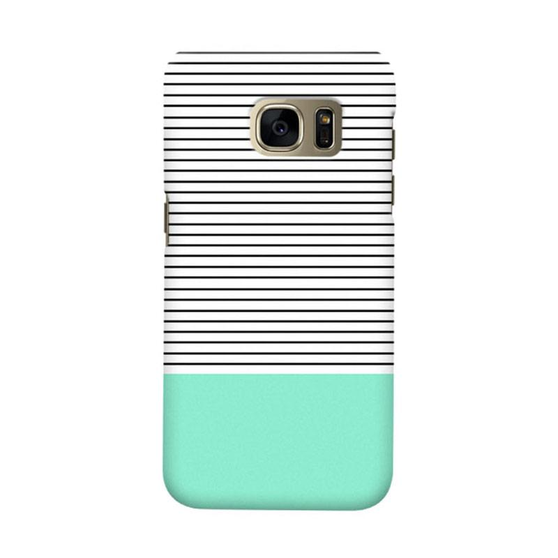 Indocustomcase Minimal Strips Cover Casing for Samsung Galaxy S6 Edge