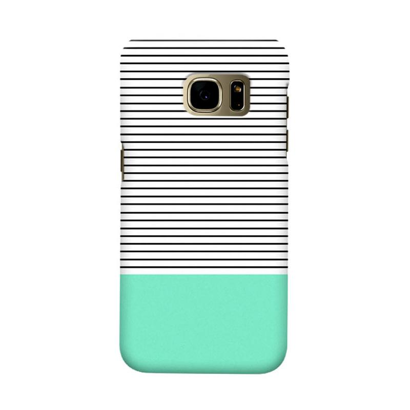 Indocustomcase Minimal Strips Cover Casing for Samsung Galaxy S7 Edge