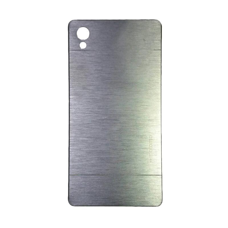 Motomo Metal Hardcase Backcase Casing for Sony Xperia Z5 Plus or Z5 Premium - Silver