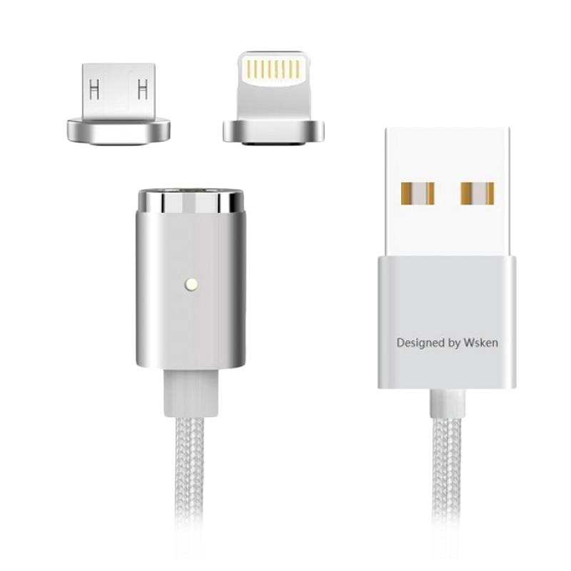 harga WSKEN Original X-Cable Mini 2 Micro USB and Lightning 2in1 Magnetic Cable Blibli.com