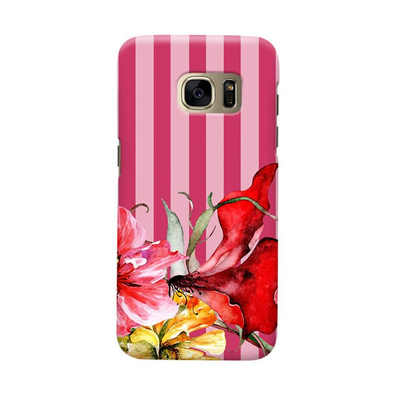 Indocustomcase Botanical Flower Cover Casing for Samsung Galaxy S6 Edge