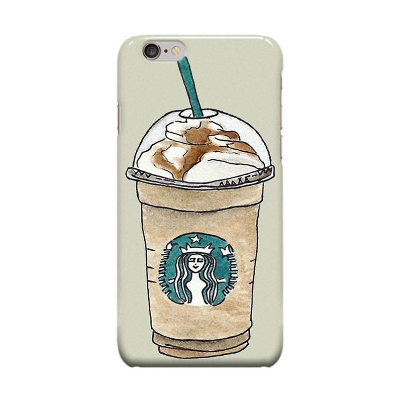 Indocustomcase Starbuck Ice Coffee Cover Casing for iPhone 6 Plus or 6S Plus