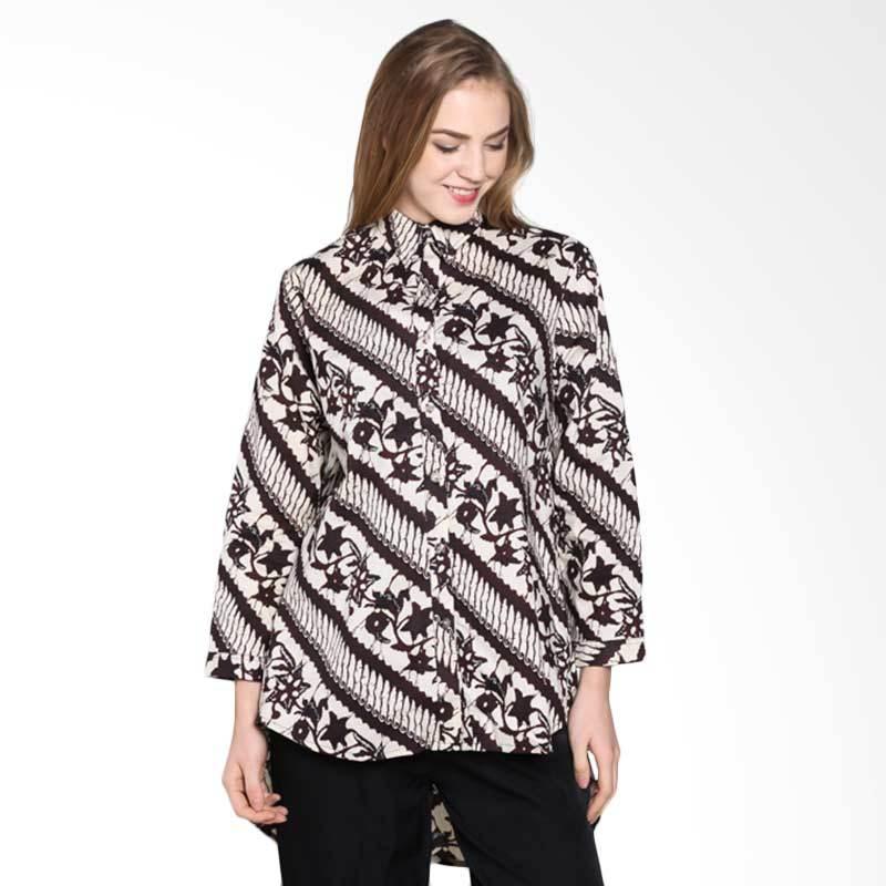 Batik Pria Tampan Wblpj-04081624p Parang Buket Longsleeve Shirt Atasan Wanita - Teak