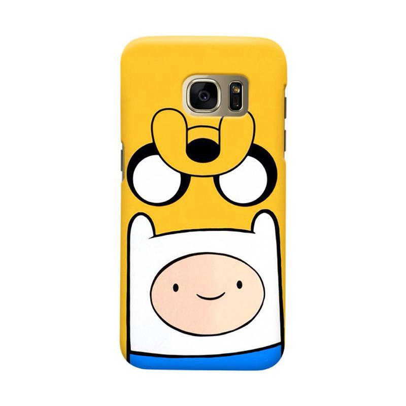Indocustomcase Cartoon Jake Finn Cover Casing for Samsung Galaxy S6 Edge