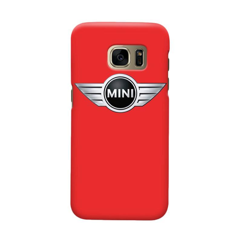 Indocustomcase Mini Cooper Logo Cover Casing for Samsung Galaxy S6 Edge