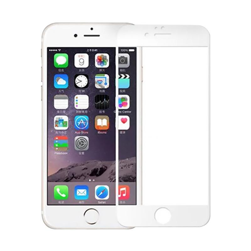 Full Cover Tempered Glass [3D] Screen Protector for iPhone 6S Plus  - White