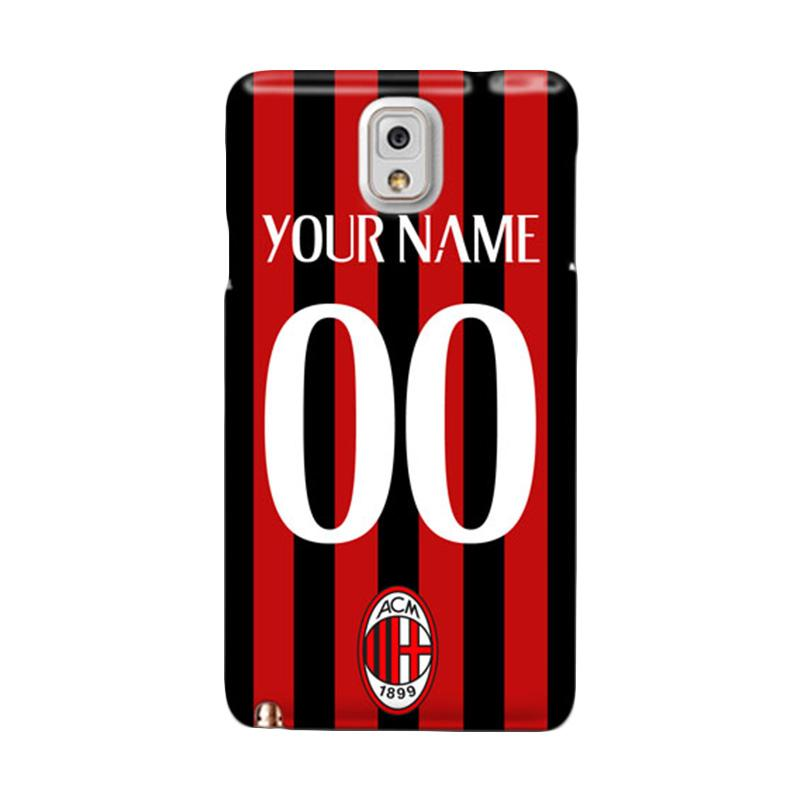 harga Indocustomcase AC Milan Jersey Print Name and Number Style 1 Custom Cover Hardcase Casing for Samsung Galaxy Note 3 N9000 Blibli.com