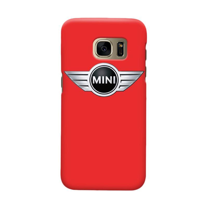 Indocustomcase Mini Cooper Logo Cover Casing for Samsung Galaxy S7 Edge