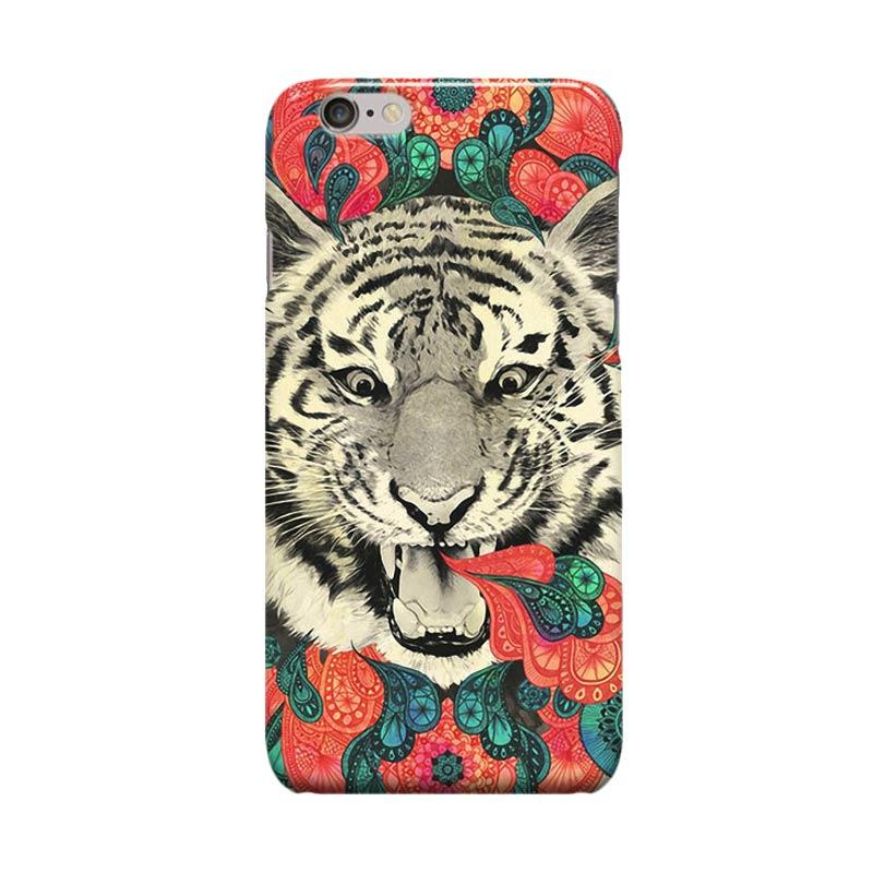 Indocustomcase Tiger Mandala Cover Casing for Apple iPhone 6 Plus or 6S Plus